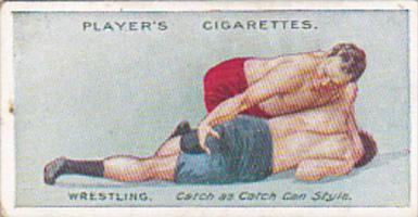 Cigarette Card Player and Sons Wrestling & Ju-Jitsu 1913 No 12 Half Nelson & ...