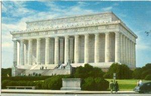 Washington DC Lincoln Memorial 1950s unused chrome Postcard