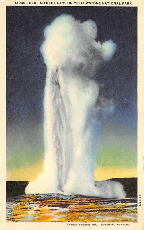 Old Faithful geyser Yellowstone National Park, USA National Parks Unused
