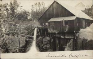 Susanville CA Water Mill c1905 Real Photo Postcard