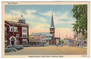 Lewiston, Maine, Hospital Square, Main Street
