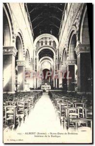 Old Postcard Albert Notre Dame Interior of the basilica Brebieres