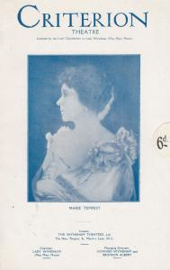 Marie Tempest in The Cats Cradle Louise Hampton Old Criterion Theatre Programme
