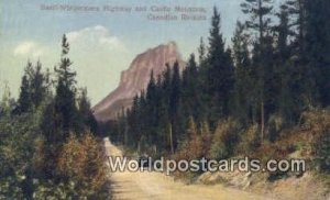 Banff Windermere Highway Castle Mountain, Canadian Rockies Canada Unused