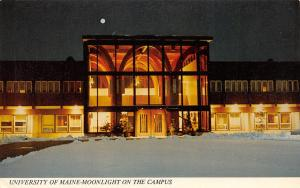 Orono University of Maine~Full Moon Over Nutting Hall~Well-Lit Interior 1960s