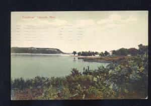 LAKESIDE MINNESOTA FRONTENAC RIVER VINTAGE POSTCARD 1913 RED WING ROBINSDALE