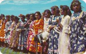 New Caledonia Noumea Natives Watching Cricket Match