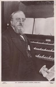 Dr Edmund Hart Turpin Nottingham Church Organist Antique Old Real Photo Postcard