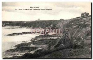 Old Postcard Brittany Binic Mound of Doudellins and Bay Binic