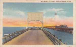 Nueces Bay Causeway Bridge Corpus Christi Texas Curteich