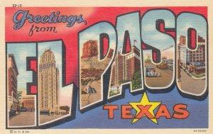 EL PASO , Texas , 1930-40s ; Large Letter