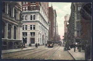 Up 5th Ave at Corner of Wood St Pittsburgh PA Used 1908