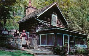 Homesteaders Cabin Blue Mounds Wisconsin WI Little Norway Valley Elves Postcard