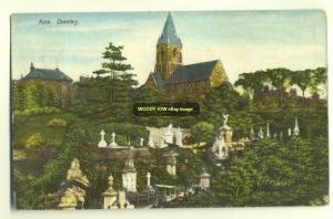 cu0800 - Rock Cemetery & Church - postcard