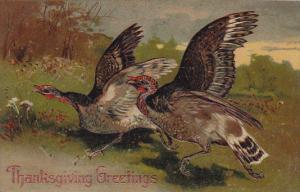 PFB Serie 8409 Thanksgiving Embossed Turkeys