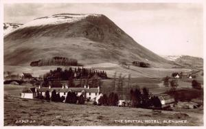 Postcard Vintage REAL PHOTO The Spittal Hotel Glenshee Scotland