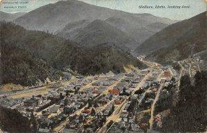 WALLACE ID Bird's-Eye View Looking East Idaho Vintage Postcard 1911