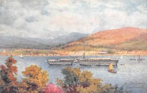 Dartmouth, The Britannia, Ships, Boats, Raphael Tuck, Aquarette