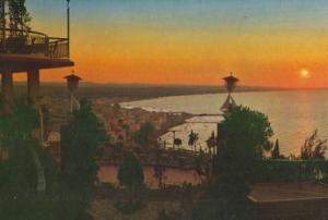 Gabicce Monte Riviera Adriatica Sunset 1970s Italian Sunset Postcard