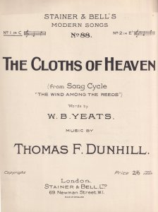 The Cloths Of Heaven Thomas Dunhill Wind Among The Reeds Olde Sheet Music