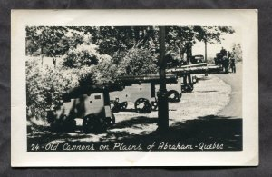 5271 - QUEBEC CITY 1930s Old Cannons on Plains of Abraham Real Photo Postcard