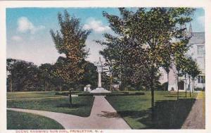 New Jersey Princeton Scene Showing Sun Dial