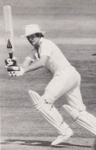 Glenn Turner 100th Century Warwickshire Worcester Real Photo Cricket Postcard
