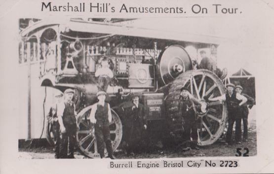 Marshalls Hills Amusements Bristol City Burrell Steam Engine 2723 Old Photo