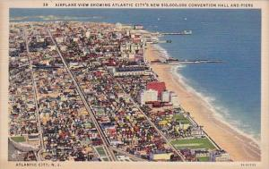 New Jersey Atlantic City Airplane View Showing Atlantic Citys New 10000000 Co...