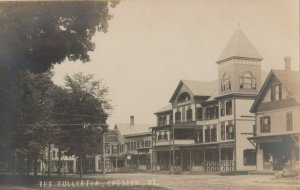 RP: CHESTER , Vermont, 1908 ; Street view of The Fullerton