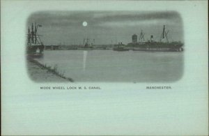 Manchester England Early 1890s Smaller Format Postcard  MS CANAL