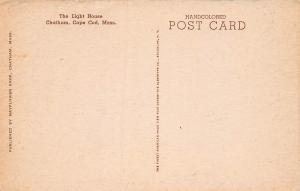 Light House, Chatham, Cape Cod, Mass., Early Hand Colored Postcard, Unused