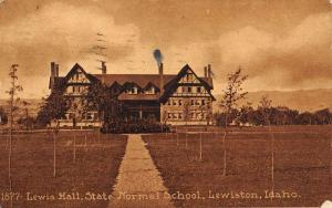 Lewiston Idaho Normal School Lewis Hall Antique Postcard K98871