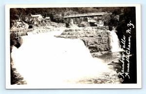 Postcard NY Ausable Chasm Rainbow Falls RPPC Real Photo c1917 R70