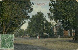 Australia TOOWOOMBA Herries Street 1927 TCV stamp postcard