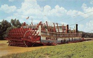 VICKSBURG, MS Mississippi SHOWBOAT SPRAGUE Steamer~Sternwheeler Towboat Postcard