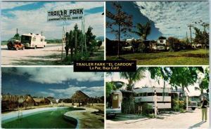 LA PAZ, Baja California  Mexico   TRAILER PARK  EL CARDON  Map    Postcard*