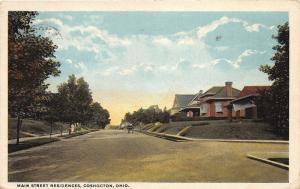 Coshocton Ohio~Main Street @ Residential Neighborhood~Houses~People~1922 Pc