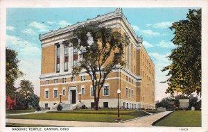 Masonic Temple, Canton, Ohio, Early Postcard, Used in 1936