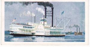 Trade Cards Brooke Bond Tea TRANSPORT THROUGH THE AGES No 23 Mississippi Steamer