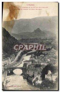 Postcard Old Foix Ariege and the Pic de Montgaillard