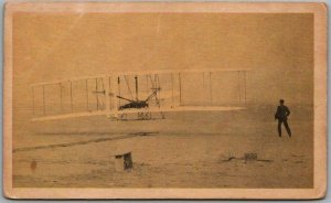 Vintage Early Aviation Collector's Card 1 - WRIGHT FLYER Library of Congress