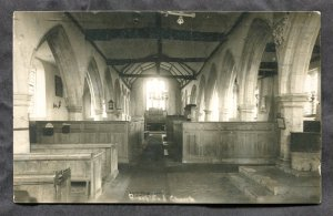 dc403 - BROOKLAND England near New Romney 1930 Church Interior. Real Photo PC