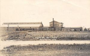 Augusta WI~Were Running Peas at Canning Factory~Big Four Railroad Cars~1918 RPPC