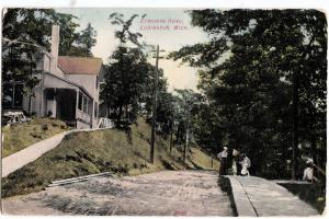 c1910 LUDINGTON Michigan Mich Postcard EPWORTH ROAD Homes