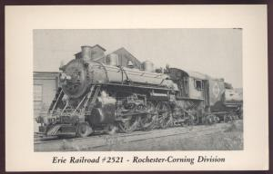 Erie 2521 Corning Trains Rogers Meadville PA Engine Steam Railroad Postcard