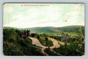 Reading PA-Pennsylvania Mt Penn Boulevard, Vintage c1909 Postcard
