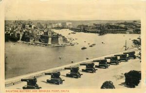 Saluting battery and Senglea Point Malta 1910