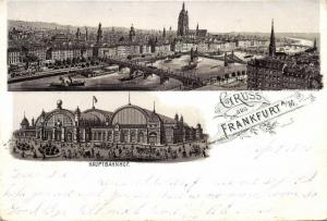germany, FRANKFURT a/M, Panorama, Hauptbahnhof, Railway Station (1896)