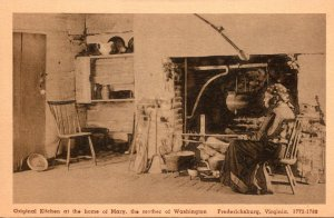 Virginia Fredericksburg Original Kitchen At The Home Of Mary Mother Of Washin...